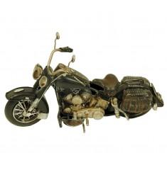Maqueta metal moto Harley negra peq.