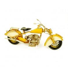 Maqueta moto antigüa amarilla
