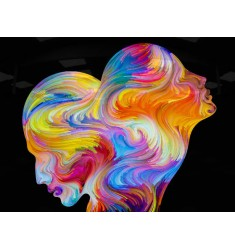 Cuadro Women Faces Colors en Alto Brillo