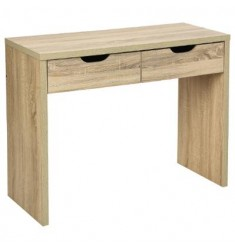 Consola madera 2 cajones 100x40x80cm