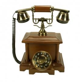 Teléfono antigüo madera