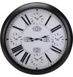 Reloj multihorario de pared metal 93cm.