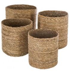 Set 4 cestos mimbre 27-25-21-19cm