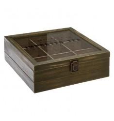 Caja the madera 9 compartimentos  Colonial