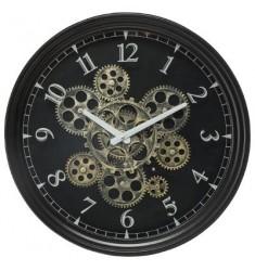 Reloj metal d 37cm. con mecanismo móvil