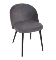 Silla terciopelo gris 53x54x75