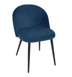 Silla terciopelo azul 53x54x75