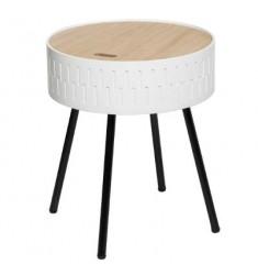 Mesa con tapa 38x45 blanca