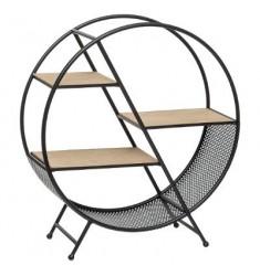 Estanteria en madera y metal 56x18x50cm