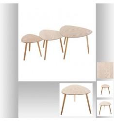 Set 3 mesas de centro madera