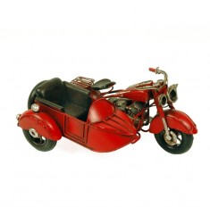 Moto antigua metal con sidecar