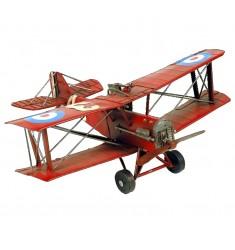 Maqueta metal avioneta roja