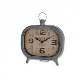 Reloj sobremesa metal 19x20x5cm Gris
