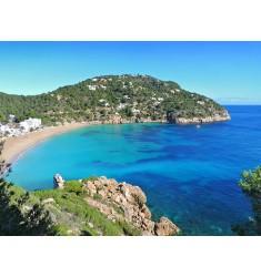 Cuadro Playa de Ibiza en Alto Brillo