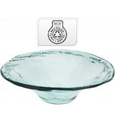 Centro mesa cristal 40x12cm.