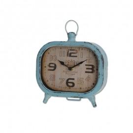 Reloj sobremesa metal 19x20x5cm Azul