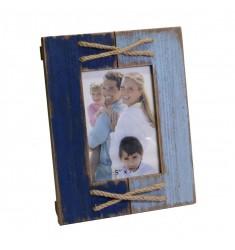 Portafoto madera envejecido 13x18cm
