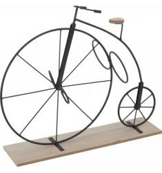 Bicicleta-botellero rueda grande en forja