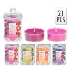 Bote cristal con velas perfumadas