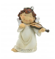Angelito musico violín 18 cm.
